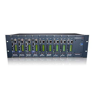 MediaStar Multi slot 3RU Chassis with Integral Power Supply (Models 770 and 770-DR)