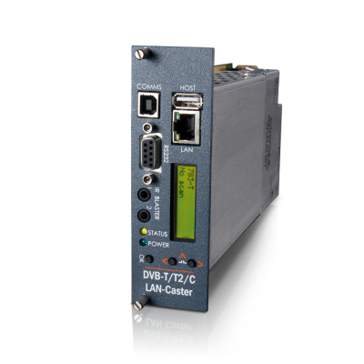 MediaStar DVB-T/T2/C LAN-Caster Gateway for Digital Terrestrial & CATV Re-Broadcast over IP (783)