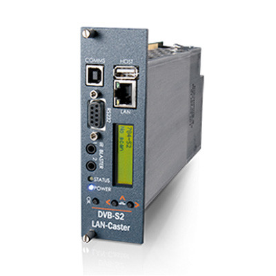 MediaStar DVB-S/S2 LAN-Caster Gateway for Digital Satellite Re-Broadcast over IP (784)