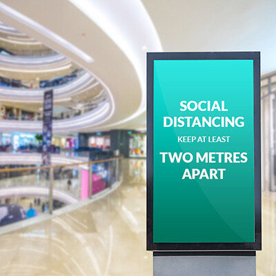 Indispensable digital signage for the return to work