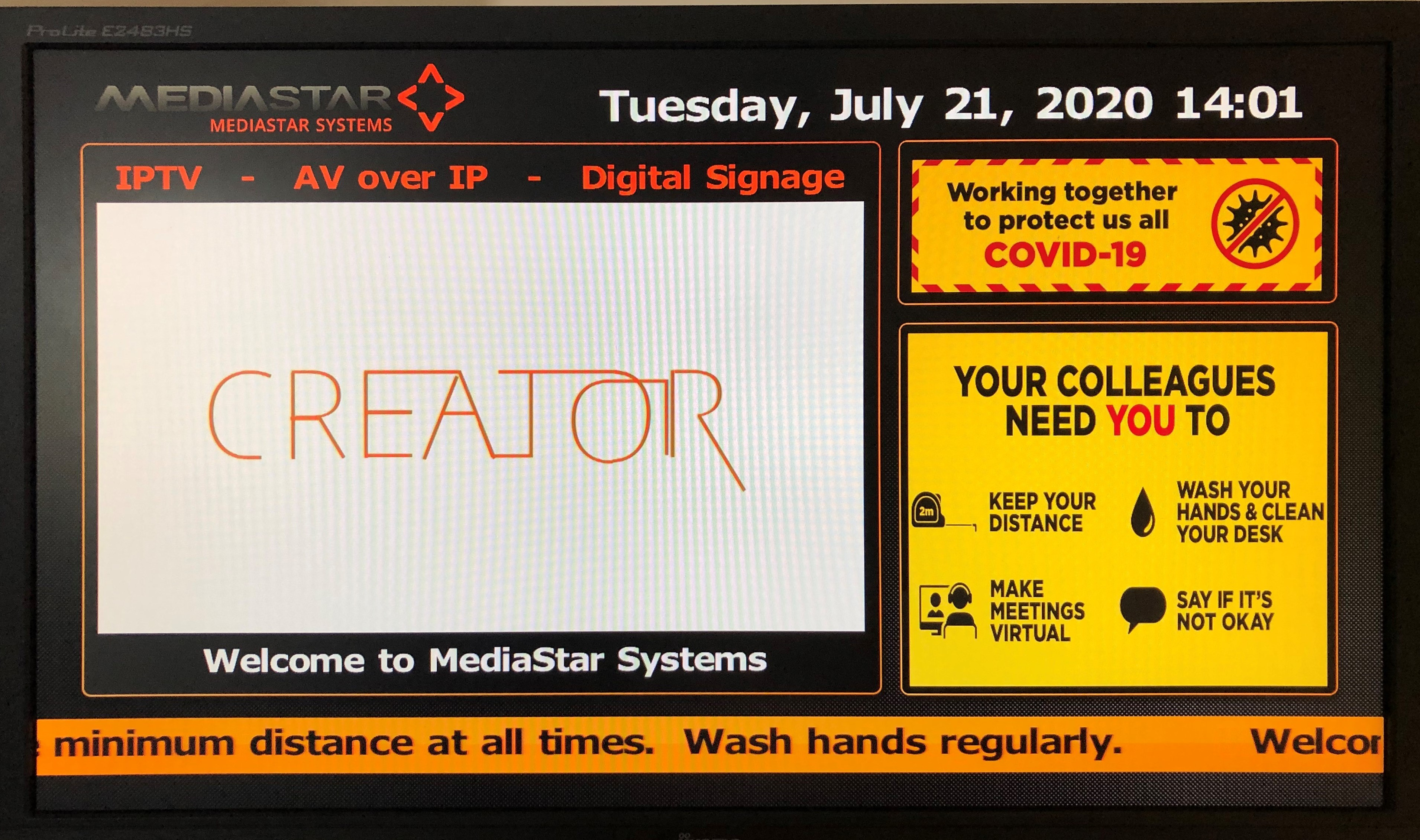 Indispensable digital signage return to work mediastar