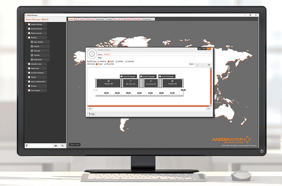 digital signage content manager